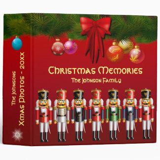 Xmas Nutcracker Toy Soldiers 3 Ring Binders