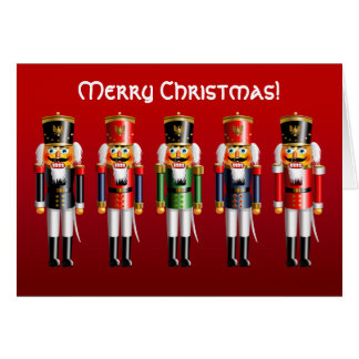 Xmas Nutcracker Toy Soldiers in Uniforms Card