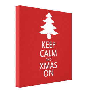Xmas on gallery wrap canvas