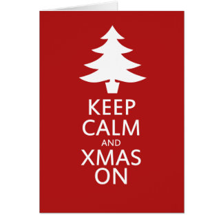 Xmas on note card
