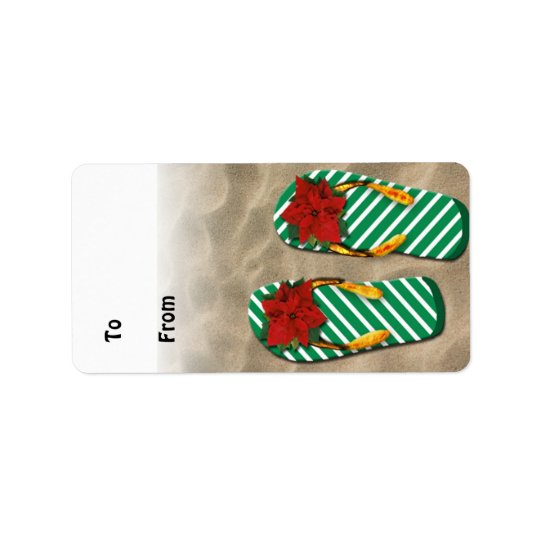 Xmas Party Flip Flops Gift Tags