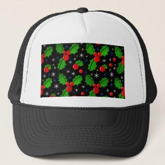 Xmas pattern trucker hat