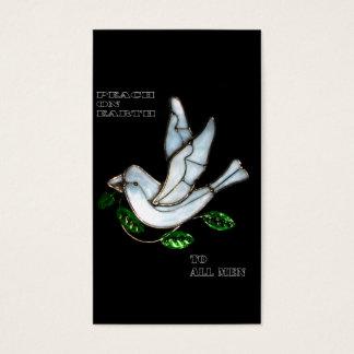 xmas peace business card