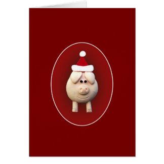 Xmas Piggy Greeting Card