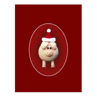 Xmas Piggy Postcard