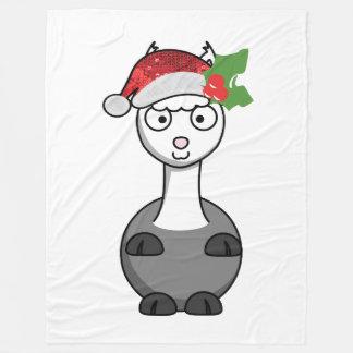 xmas santa claus alpaca christmas blanket