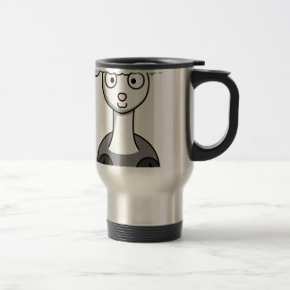 xmas santa claus alpaca travel mug