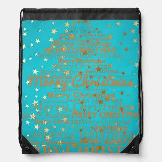Xmas Season Drawstring Bag