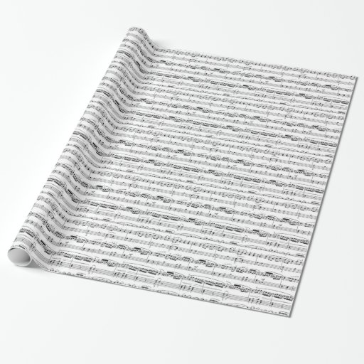 xmas sheet music scores gift wrapping paper