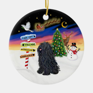 Xmas Signs - Puli Double-Sided Ceramic Round Christmas Ornament