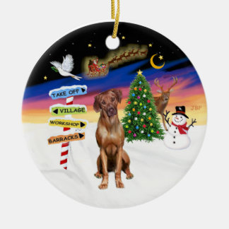 Xmas Signs - Rhodesian Ridgeback Ceramic Ornament