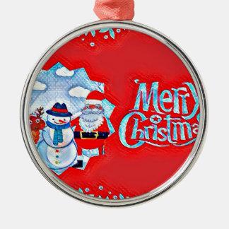 Xmas Silver-Colored Round Ornament
