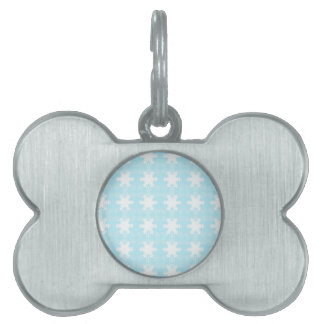 xmas snowflakes. Light Blue-white Pet Name Tag