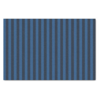 Xmas Snowy Night & Midnight Blue Vertical Stripes Tissue Paper