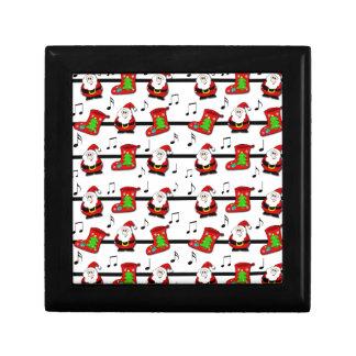 Xmas song pattern gift box