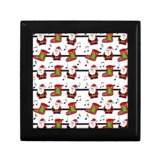 Xmas song pattern jewelry box