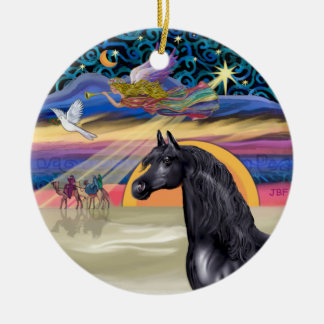 Xmas Star - Arabian Horse (black) Ceramic Ornament