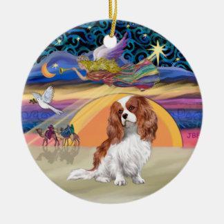 Xmas Star - Blenheim Cavalier King Charles Ceramic Ornament