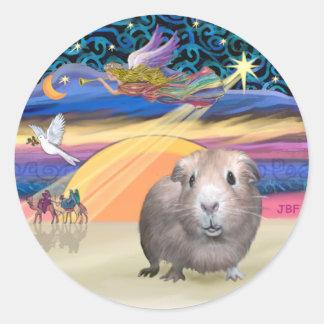 Xmas Star - Guinea Pig 2 Classic Round Sticker