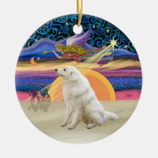 Xmas Star - Kuvasz #2 Ceramic Ornament