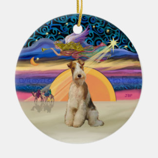 Xmas Star - Wire Fox Terrier #3 Ceramic Ornament
