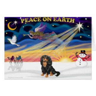 Xmas Sunrise - Cavalier (black-Tan) Card