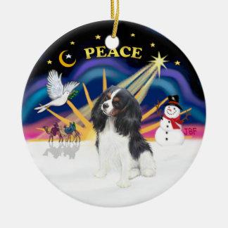 Xmas Sunrise - Tri Color Cavalier Ceramic Ornament