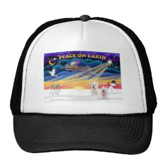 Xmas Sunrise - Two West Highland Terriers Trucker Hat