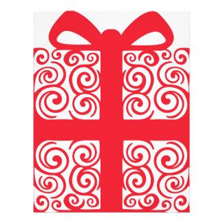 Xmas Swirl Gift Customized Letterhead