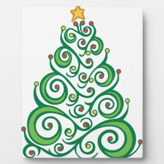 Xmas Swirl Tree Plaque