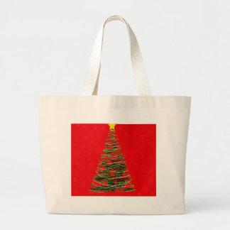 Xmas tree 3 large tote bag