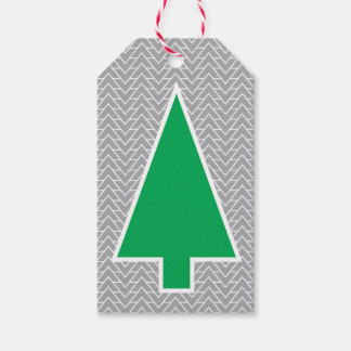 XMAS TREE CHEVRON WITH A TWIST PACK OF GIFT TAGS