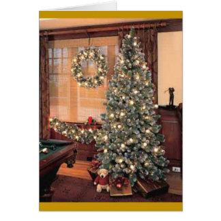 Xmas Tree with wreath Card