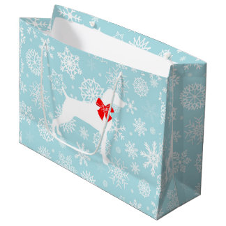 XMAS WEIM WITH SNOWFLAKES  Gift bag