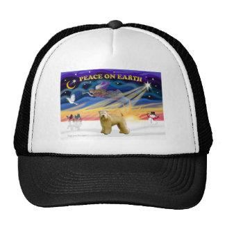 XmasSunrise-WheatenTerrier2 Trucker Hat