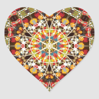 Xmax Mandala Heart Sticker