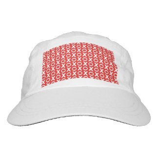 XO Kisses and Hugs Pattern Illustration red white Hat