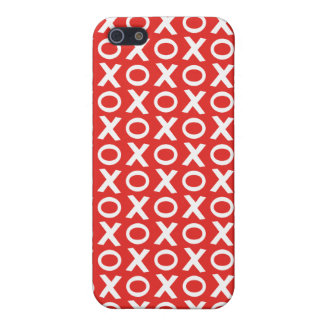 XO Kisses and Hugs Pattern Illustration red white iPhone 5/5S Cases