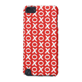 XO Kisses and Hugs Pattern Illustration red white iPod Touch 5G Cases