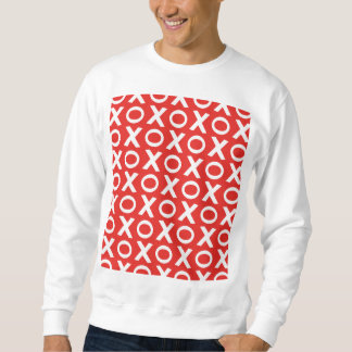 XO Kisses and Hugs Pattern Illustration red white Sweatshirt