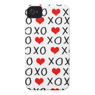 XO Valentines day pattern iPhone 4 Case-Mate Cases