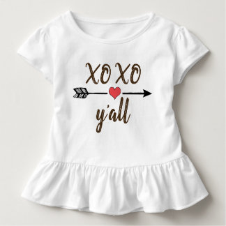XO XO y'all girls Valentine's Day shirt dress