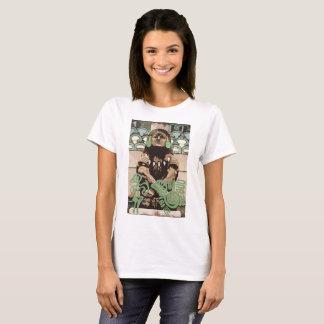 Xochipilli Aztec God by Jesse Raudales T-Shirt