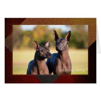 Xoloitzcuintle Greeting Card