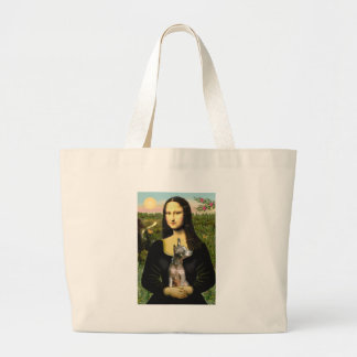 Xoloitzcuintle (Xolo) - Mona Lisa Large Tote Bag