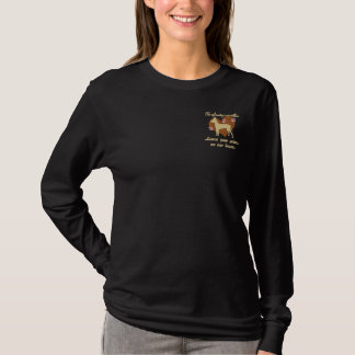 Xoloitzcuintlis Leave Paw Prints Embroidered Shirt