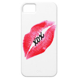 xox kiss red lips iPhone 5 case