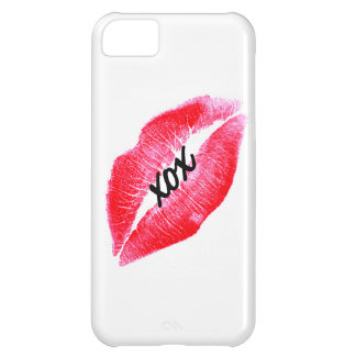 xox kiss red lips case for iPhone 5C