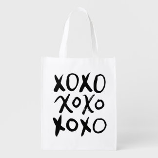 XOXO | Black Brush Script Reusable Grocery Bag