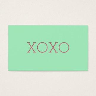 XOXO Business Cards